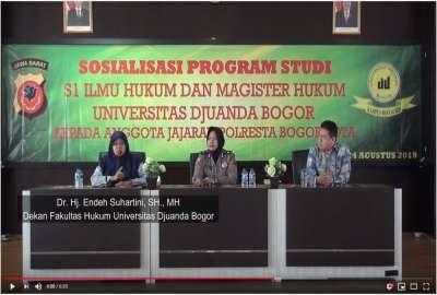 Sosialisasi UNIDA di POLRESTA Bogor Kota