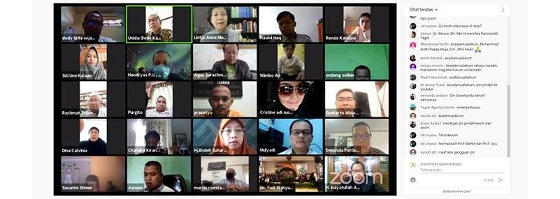 "FH UNIDA Bogor Gelar Webinar Nasional ""Negara VS Covid-19"""