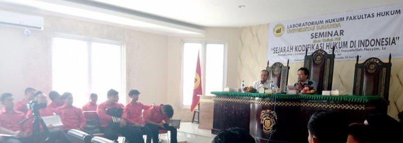 Fakultas Hukum UNIDA Bogor Gelar Seminar Sejarah Kodifikasi Hukum di Indonesia