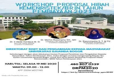 Workshop Proposal Hibah Kemenristek/BRIN Tahun Pembiayaan 2021
