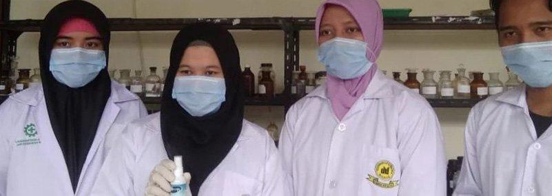 Antisipasi Virus Covid-19, Mahasiswa UNIDA Ciptakan Spray Antiseptik