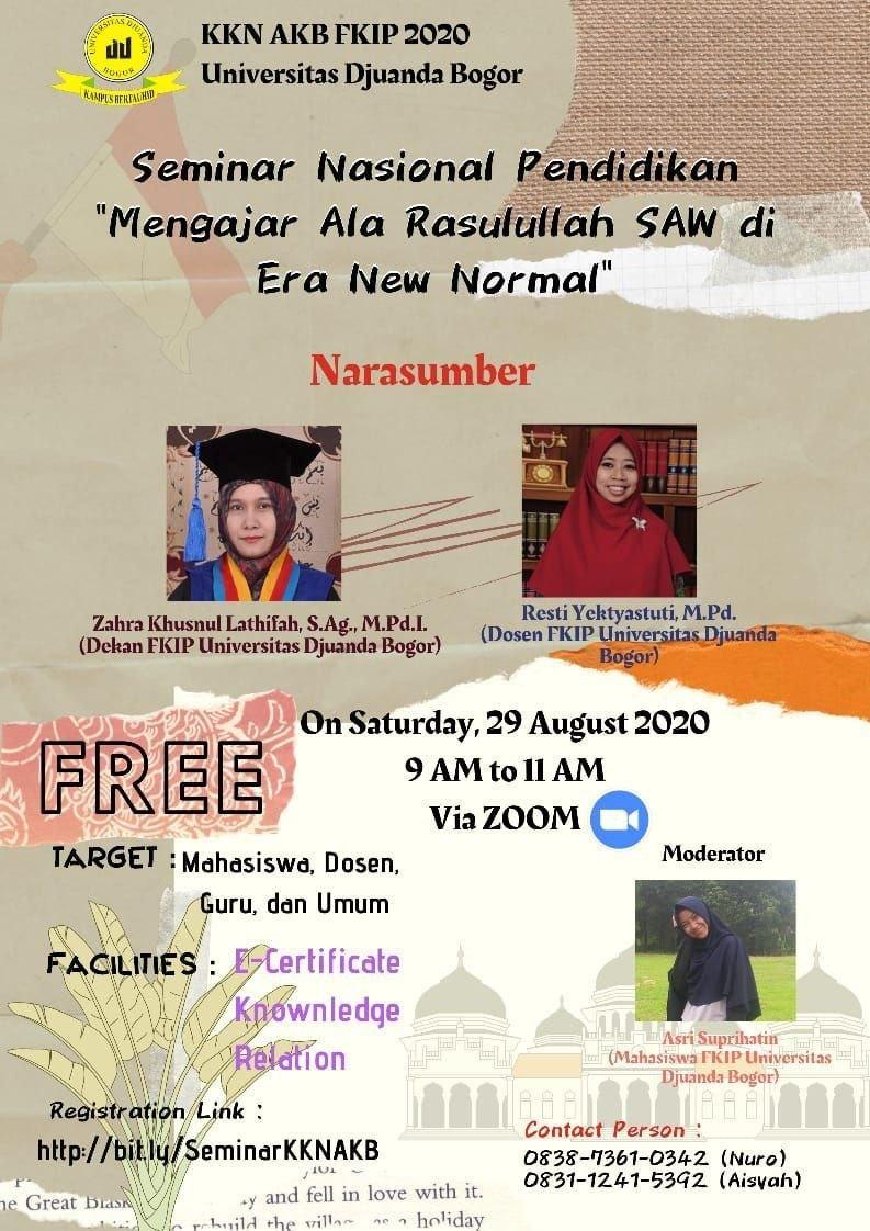 Webinar Nasional - Mengajar Ala Rasulullah SAW di Era New Normal