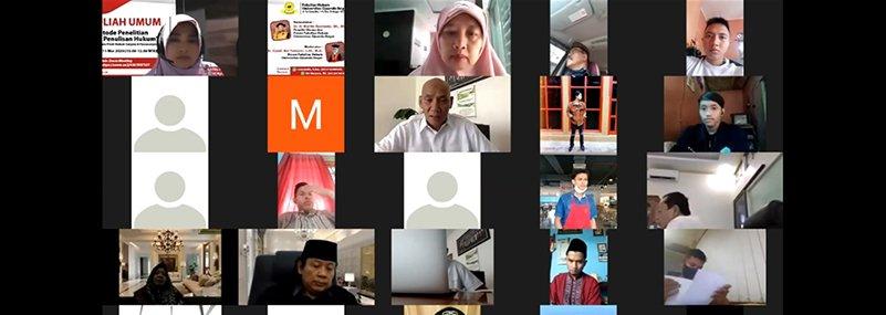 FH UNIDA Bogor Gelar Kuliah Umum Online Penelitian Hukum