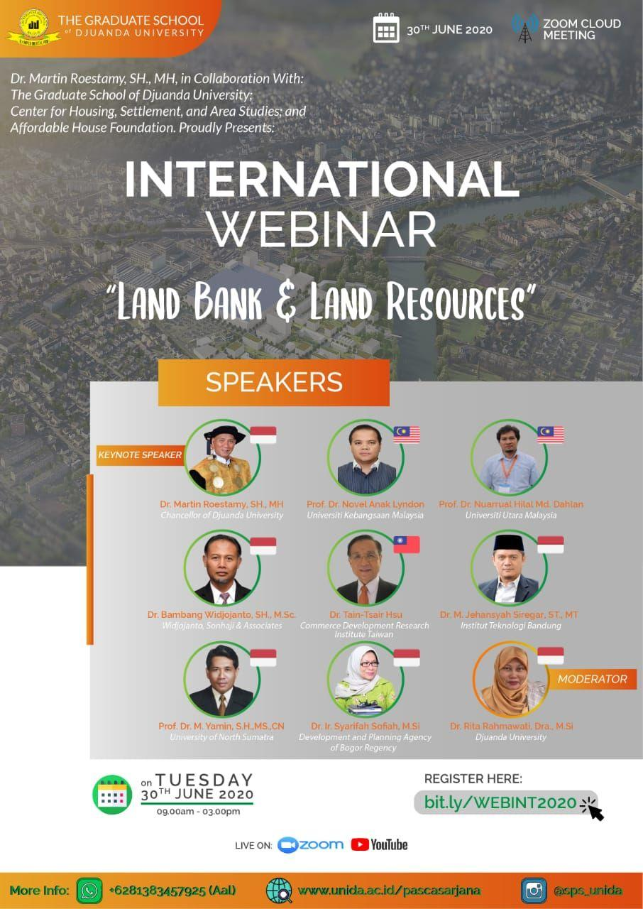 International Webinar - Land Bank & Land Resources