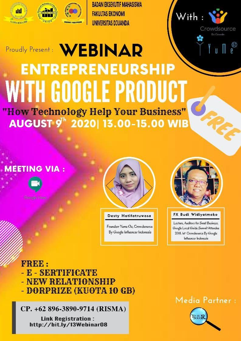 Webinar - Entrepreneurship with Google Product