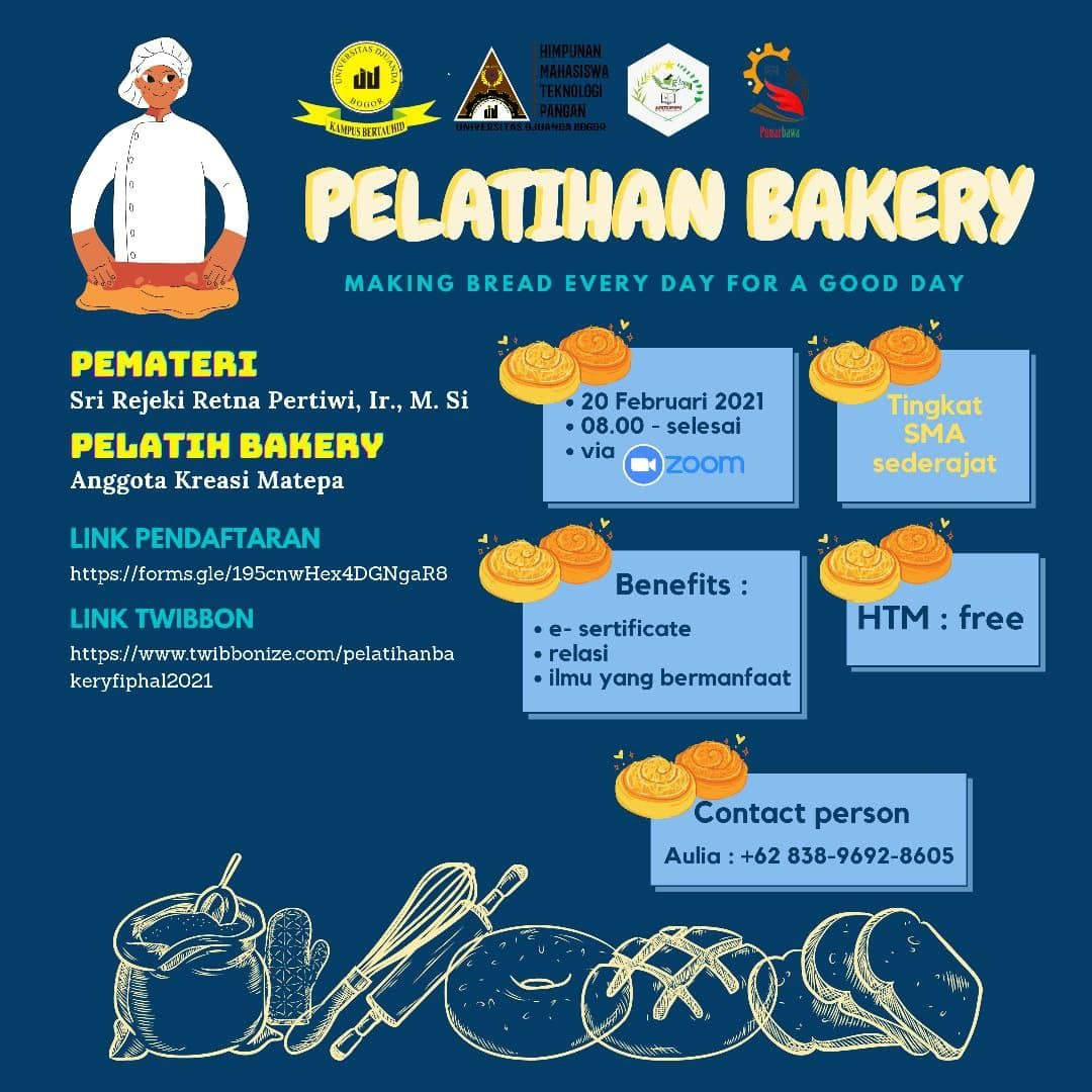 Pelatihan Bakery - Making Bread Every Day For a Good Day