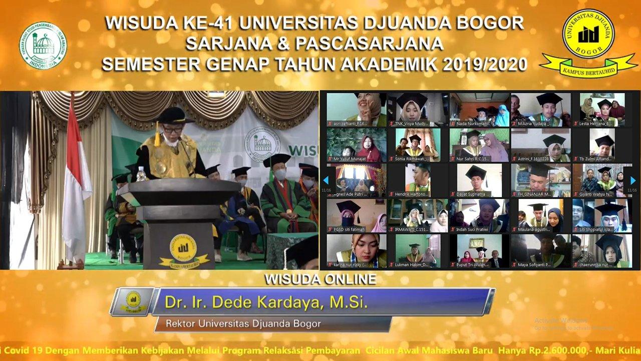 Gelar Wisuda ke-41 Daring UNIDA Bogor, UNIDA Bogor Lepas 354 Wisudawan