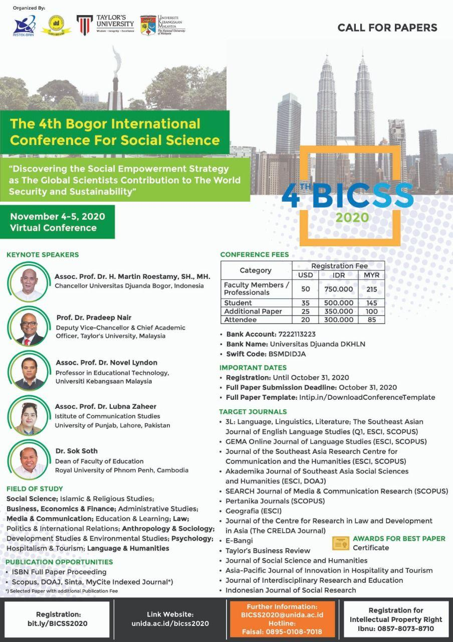 Call For Papers - The 4th Bogor International Conference for Social Science