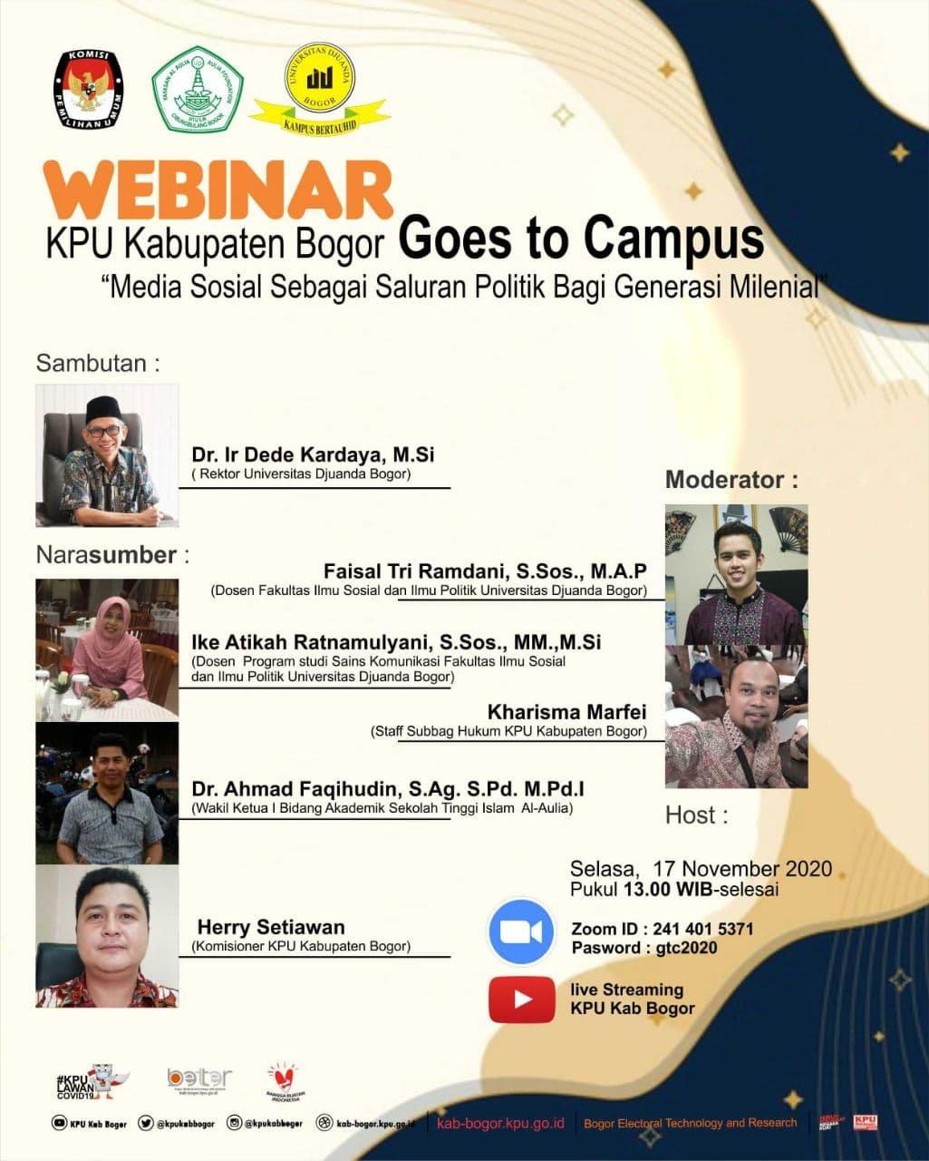 Webinar - KPU Kabupaten Bogor Goes to Campus