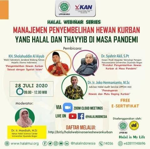 Webinar - Manajemen Penyembelihan Hewan Kurban yang Halal dan Thayyib di Masa Pandemi