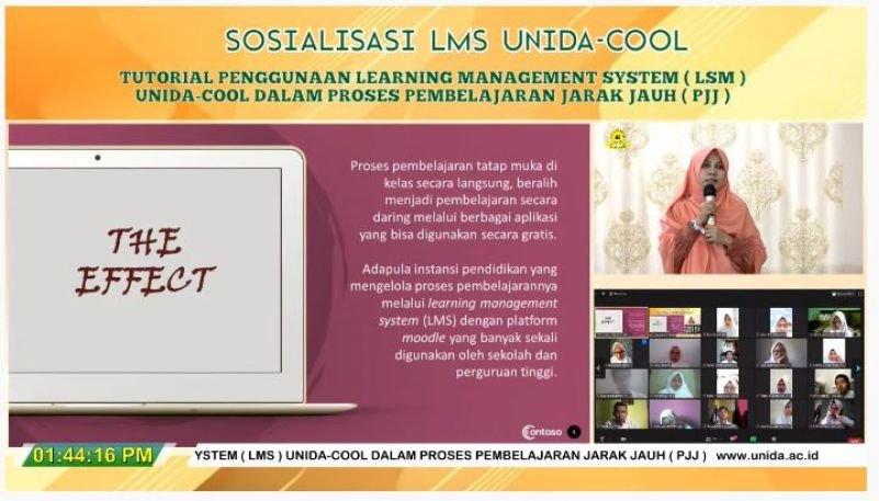 Kenalkan Sistem Pembelajaran Daring kepada Mahasiswa Baru, UNIDA Bogor Sosialisasikan LMS-UNIDA COOL