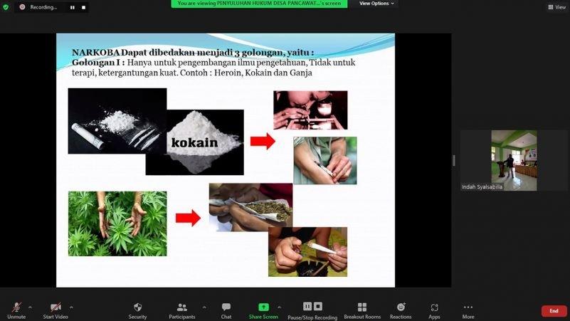 Bentuk Generasi Muda Tanpa Narkoba, FH UNIDA Bogor Selenggarakan Penyuluhan Hukum Dampak Penggunaan Narkoba