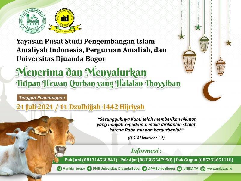 Informasi Penerimaan dan Penyaluran Hewan Qurban 1442 H