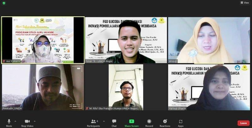 Bahas Uji Coba Inovasi Pembelajaran Model Hybrid Webinar bagi Mahasiswa Berkebutuhan Khusus Tuna Daksa, UNIDA Bogor Selenggarakan FGD